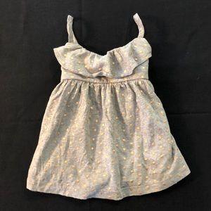 💖$8 BABY GAP gray & gold polka dot tank shirt